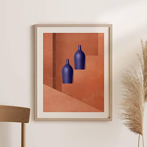 Grafika - Architektonický obraz s vázou - 13744348_
