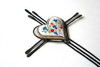Dekorácie - Trojitý krížik so srdcom - 13744066_