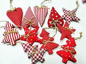 Dekorácie - Vianočné sada v červenom - 13744019_