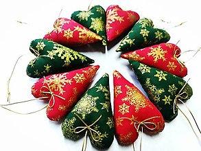 Dekorácie - Vianočné srdiečka - 13746310_