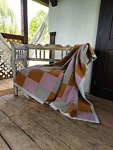 Úžitkový textil - Wafflová prikrývka Squares - 13743678_