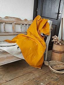 Úžitkový textil - Ľanová prikrývka Indian Summer - 13743699_