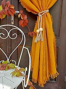 Úžitkový textil - Ľanový záves Autumn Vibes - 13743723_