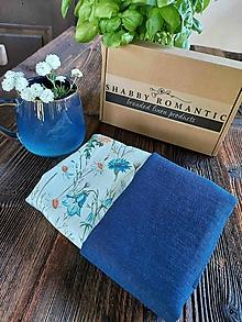Úžitkový textil - Sada utierok Daisy Blue - 13743986_