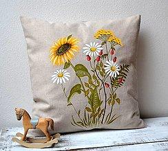 Úžitkový textil - Vankúš-ručne maľovaný-Na konci leta - 13749495_