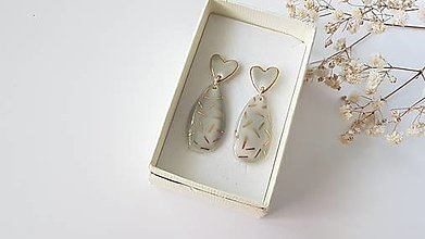 Náušnice - Porcelánové  náušnice - 13749846_