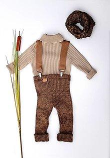 """Detské oblečenie - Rolák, """"Bruno"""", veľ. 56-104, OEKO-TEX®, hnedý - 13747491_"""