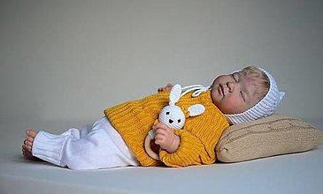 """Detské oblečenie - Pulóvrik so šnúrkou, """"Bruno"""", veľ. 56-104, OEKO-TEX®, kurkumový - 13747612_"""