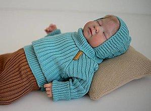 """Detské oblečenie - Rolák, """"Bruno"""", veľ. 56-104, OEKO-TEX®, nefritový - 13747664_"""
