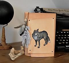 Papiernictvo - kožený midori zápisník FAOL - 13749543_