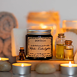 Sviečka zo sójového vosku v hnedom skle - Z bylinkovej záhradky - Mäta&Eukalyptus