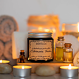 Sviečka zo sójového vosku v hnedom skle - Z bylinkovej záhradky - Citrónová tráva