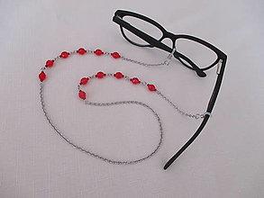 Iné šperky - Retiazka na okuliare - červená - chirurgická oceľ - 13748625_