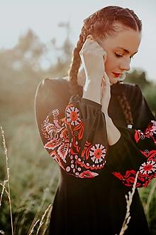 Šaty - čierne vyšívané šaty Očovianka - 13747265_