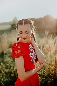 Šaty - červené mini šaty Slavianka - 13747313_