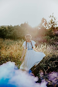Šaty - biele vyšívané šaty Zámutovské kvety - 13747319_