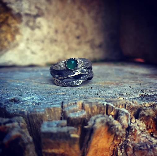 Strieborný prsteň - Les