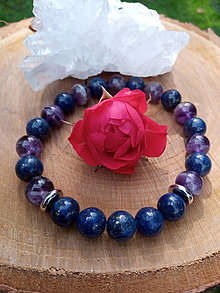 Náramky - Náramok z lapisu lazuli a ametystu - 13749002_