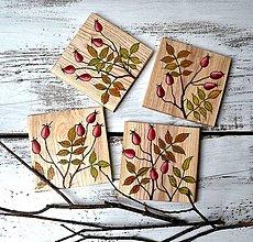 Pomôcky - Drevené podšálky-ručne maľované-Šípky - 13747970_