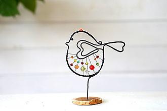 Dekorácie - vtáčik jarabý - 13747411_
