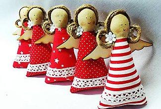 Dekorácie - Vianočné anjeliky - 13749670_