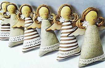 Dekorácie - Vianočné anjeliky - 13749852_