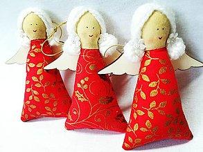Dekorácie - Vianočné anjeliky - 13750344_