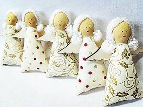 Dekorácie - Vianočné anjeliky - 13750519_