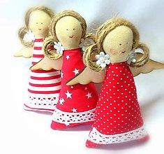 Dekorácie - Vianočné anjeliky - 13750520_