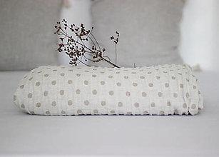 Úžitkový textil - Obojstranný ľanový prehoz - 13749361_