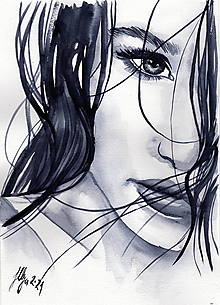 Obrazy - Girl - originál - 13748802_