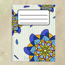 Papiernictvo - Kvetový zápisník modrý zábudlivec - 13749065_