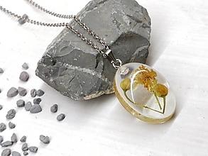 Náhrdelníky - Náhrdelník kvetoláska lipa ovál - 13753071_