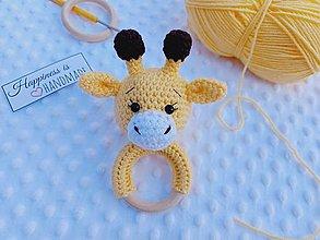 Hračky - Hrkálka žirafka - 13752994_