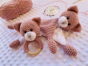 Hračky - Hrkálka a mojkáčik mačka - 13753012_