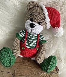 Hračky - Vianočný macko - 13751240_