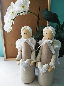 Dekorácie - Stojace anjeliky - 13751683_