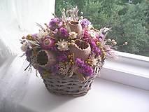 Dekorácie - Jesenný košík ... prírodná dekorácia ... - 13751373_
