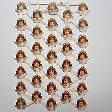 Papier - Papierové výrezy - anjel / v-1 - 13751952_