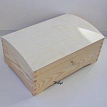 Polotovary - Drevený kufrík na kľúčik 30x19,5x13,5 cm - 13752051_