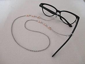 Iné šperky - Swarovski - retiazka na okuliare - chirurgická oceľ - 13752275_