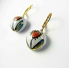 Náušnice - Tana šperky - keramika/zlato - 13752278_