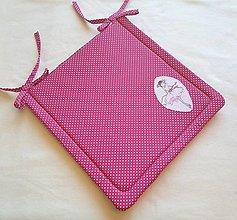 Textil - Podsedák na školskú stoličku č.13 (ružový s baletkou) - 13752288_