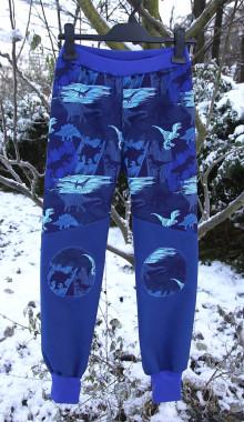 Nohavice - Softshellové nohavice - Dino / na objednávku - 13752183_