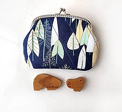 Peňaženky - Peňaženka XL Nočný les - 13751410_