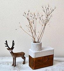 Dekorácie - Drevená váza - minimal - 13752169_
