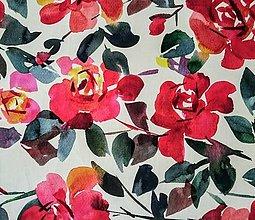 Textil - 100% ľan ruže (ako materiál alebo šitie na želanie) - 13753209_