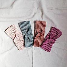 Čiapky - Ručne háčkované čelenky z merino vlny - 13753408_