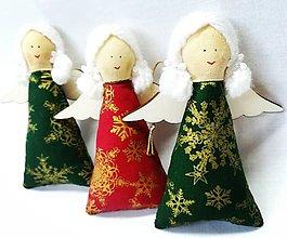 Dekorácie - Vianočné anjeliky - 13753197_