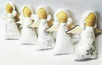 Dekorácie - Vianočné anjeliky - 13753198_